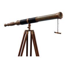 Admiral Floor Standing Antique Brass Telescope 60'', Nautical Telescope