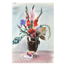 Eve Nethercott, Flowers, P6.47, Watercolor Painting