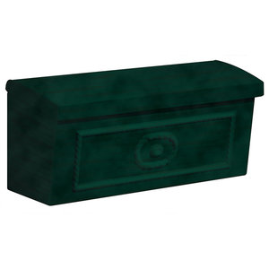 Townhouse Mailbox, Surface Mounted, Green