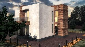 Дом в современном стиле.