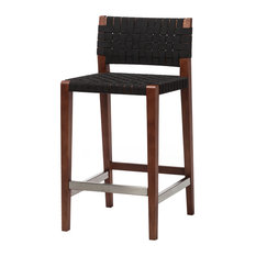 Risom Style Counter Stool, Black