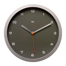 "10"" Designer Wall Clock Gotham Charcoal"
