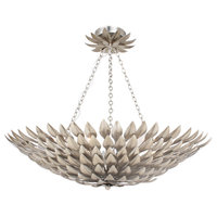 Crystorama 517-SA_CEILING Broche Semi Flush Mount Light, Antique Silver