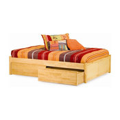 Atlantic Furniture Concord Flat Panel Daybed in Natural Maple