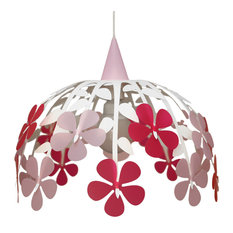 Bunch of Flowers Pendant Light, Ivory and Pink