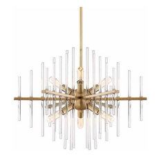 Reeve 6 Light Chandelier in Burnished Antique Brass