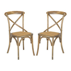 Poly and Bark Cafton Crossback Chair, Set of 2, Spanish Brown