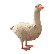 "Garden Accents White Goose, 16"""