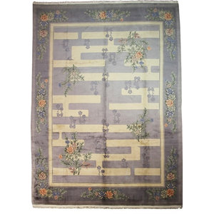China Old Rug, Hand-Knotted Classic, 366x274 cm