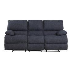 Divano Roma Furniture Clic And Traditional Dark Grey Fabric Oversize Recliner Sofa