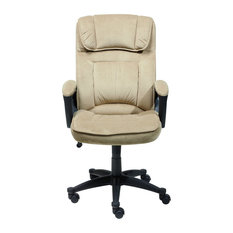 Serta By True Innovations   Serta Executive Office Chair In Light Beige  Microfiber   Office Chairs