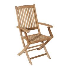 Lombock Teak Folding Garden Lounge Chairs, Set of 2