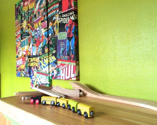 Une chambre super héros pour petit garçon