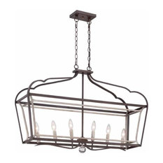 """Minka Lavery Astrapia 6-Light 11"""" Pendant Light in Dark Rubbed Sienna with Age"""