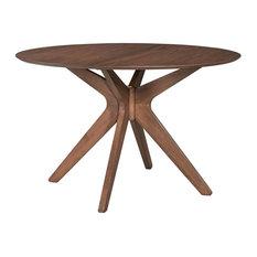 Round Pedestal Table in Satin Walnut Finish