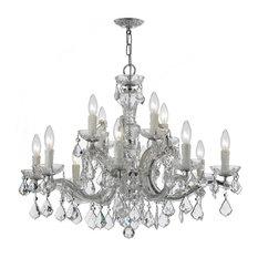 Italian chandeliers houzz crystorama lighting 12 light chandelier i italian chrome clear italian crystal aloadofball Gallery