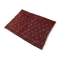 """Rust Red Color Persian Rug, 3'6""""x4'6"""""""