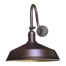 Adjustable Metal Gooseneck Barn Light, Bronze