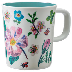 Nathalie Lété Blue Flower Mugs, Set of 4