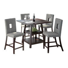 Sonax 5-Piece Bistro Counter-Height Rich Dining Set, Cappuccino