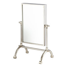 Cyan Small Cassius Mirror, Stainless Steel