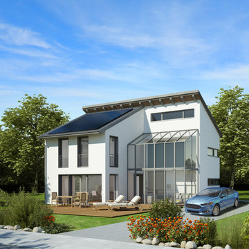 Ultra Modern Model Home for Solar Plus Storage and EV Charging