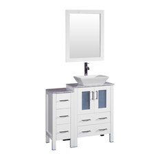 Bosconi Single Vanity, White, 36""