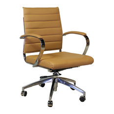 design tree home mid century management chair brown office chairs chair mid century office