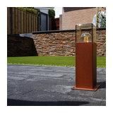 Outdoor Pole 30cm Denmark Rust Brown