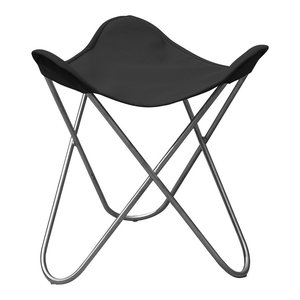Ottoman For Outdoor Hardoy Leather Butterfly Chair, Anthracite