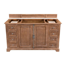 "Providence 60"" Single Vanity Cabinet Driftwood - Base Cabinet Only"