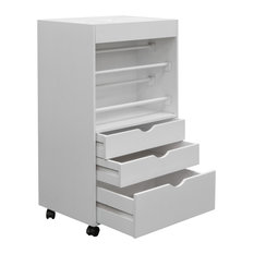 Studio Designs - Wrapping Cart, White - Holiday Storage