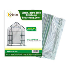 """3 Tier 6 Shelf Greenhouse Replacement Cover, To Fit Frame Size 28.7""""X56.2""""X76.8"""""""