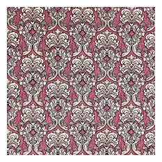 Wallpaper maroon burgundy red beige gold Victorian damask 3D, 42 Inc X 33 Ft Rol