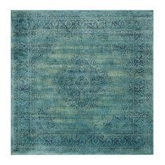 Safavieh Satin Vintage Inspired Rug Turquoise Multi 8 X8