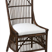 East At Main's Worthington Brown Square Rattan Dining Chair, Set of 2
