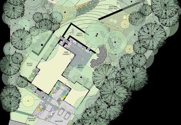 Contemporary Site And Landscape Plan by Matthew Cunningham Landscape Design LLC