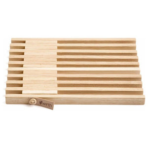 Expandable Wooden Trivet, Natural
