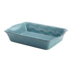Rachael Ray Cucina Stoneware Baking Dish, Agave Blue