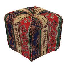 Nexapa Upholstered Ottoman Red