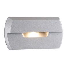 Notch, LED Step Light, Silver Metallic, 2700k