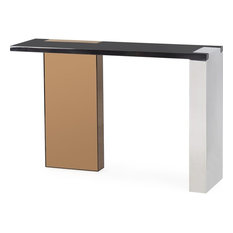 Resource Decor Reed Console Table Rose Gold