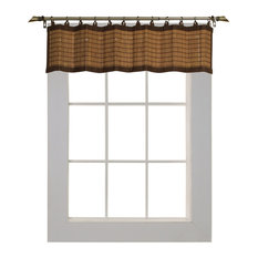 """Versailles Home Fashions Inc - Versailles Patented Ring Top Bamboo 12"""" Valance, Colonial - Valances"""