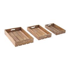 Nashville 3-Piece Wood Tray Set