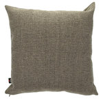 Yorkshire Fabric Shop - Karen Scatter Cushion, Brown, 45x45 Cm - A woven hopsack material gives this cushion an immediately recognisable textured look that complements its solid colouring. Add this 45-by-45-centimetre brown piece to a chair or sofa to bring a extra comfort and a rich style into your home. From deep within the UK, the family-run Yorkshire Fabric Shop produces upholstery fabrics and a wide range of cushions for homes across the world.
