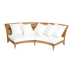 OASIQ Limited 200 Sectional, Center With Canvas Natural Cushions