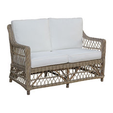 Panama Jack Seaside Loveseat With Cushions, Champagne