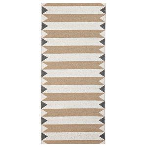 Peak Woven Vinyl Floor Cloth, Beige, 70x200 cm