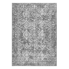 """Costa Floral Rug, Silver, 6'7""""x9'"""