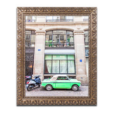"""Little Green Parisian"" Ornate Framed Art by Yale Gurney, 16""x20"""
